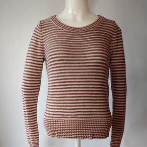 Ann Taylor Loft Striped Fitted  Sweater